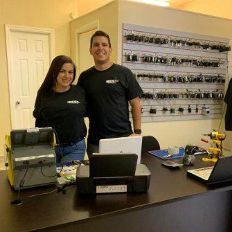 Locksmith Orlando technicians in the shop